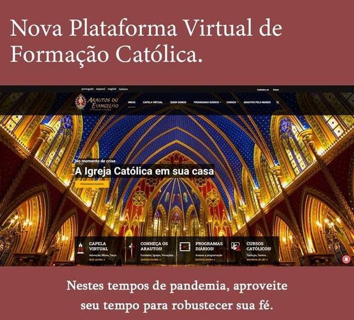 """Nova Plataforma: """"A Igreja Católica em sua casa"""""""
