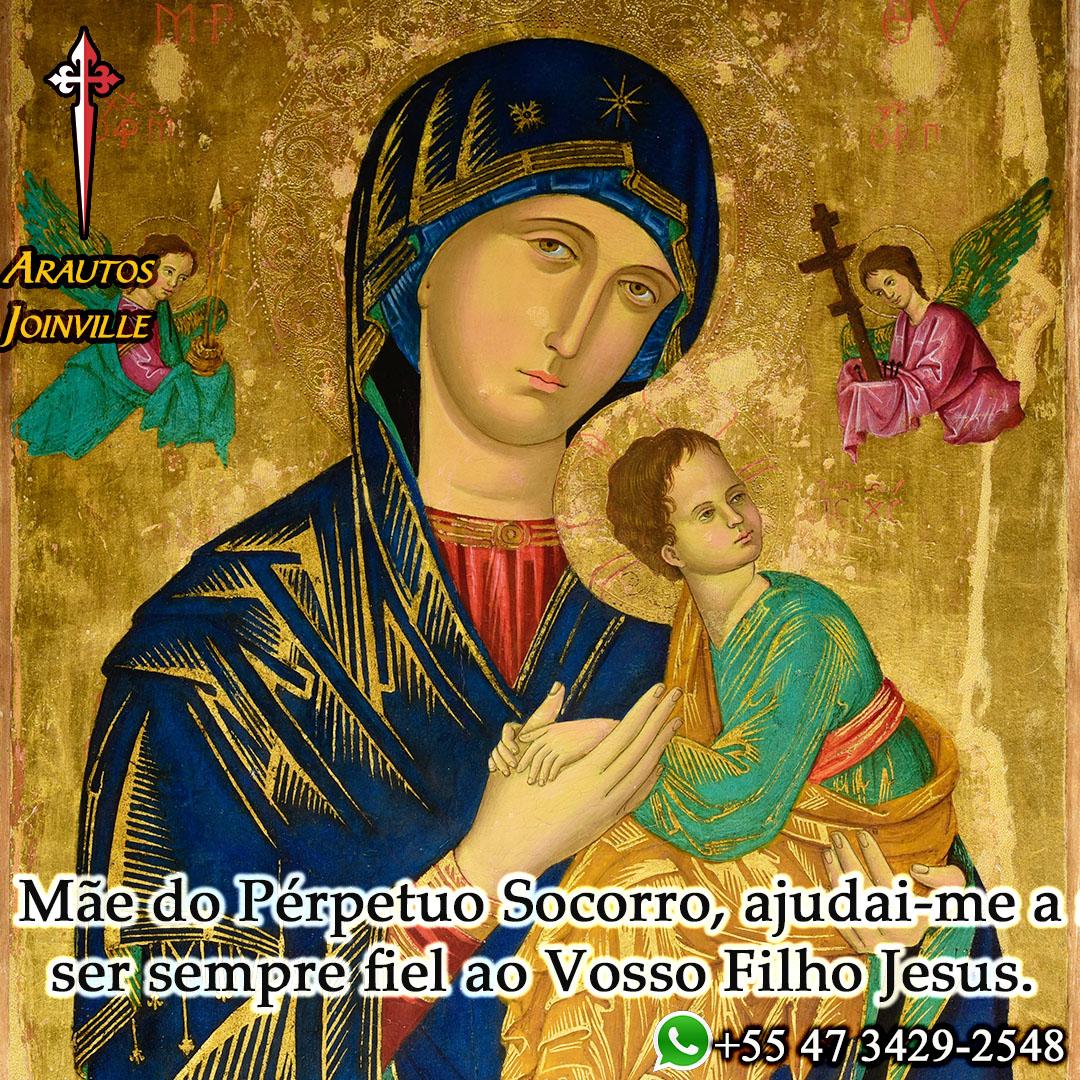 Hoje celebramos a Festa de Nossa Senhora do Perpétuo Socorro